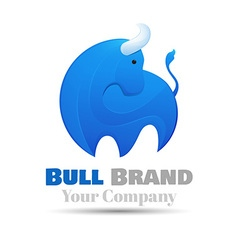 standing bull Logo design Template for your vector image