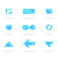 blue design elements vector image vector image