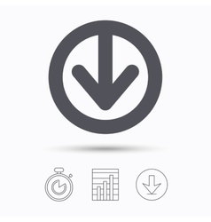 Download icon Load internet data sign vector image vector image