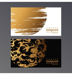 golden vcard vector image