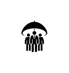 group life insurance icon flat design vector image