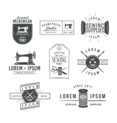 Set of vintage tailor labels emblems and design vector image