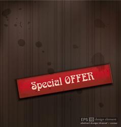 Special OFFER vintage business background vector image vector image