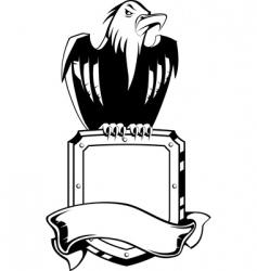 eagle shield emblem vector image vector image