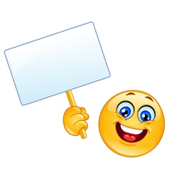emoticon with sign vector image vector image