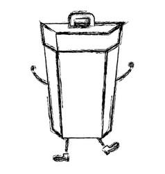 Garbage bin comic character vector