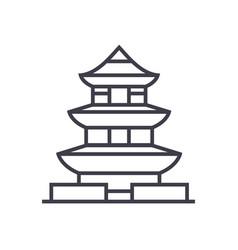 pagodajapan line icon sign vector image