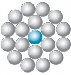 simple shiny buttons vector image vector image