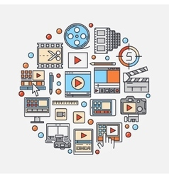 Video production concept vector
