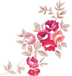 Vintage romantic roses vector