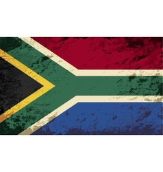 South Africa flag Grunge background vector image vector image