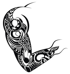 Tattoo design for a shoulder vector image vector image