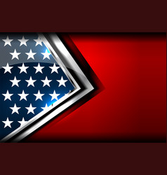 usa star background vector image vector image