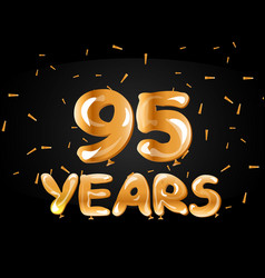 95 years anniversary celebration logotype vector image