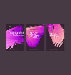 a set modern backgrounds with abstract elements vector image