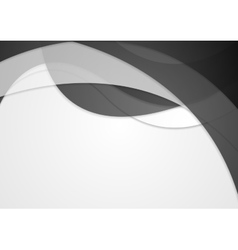 Abstract dark grey wavy background vector