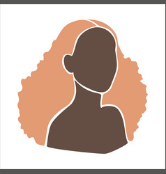 Abstract woman portrait in flat style afro vector