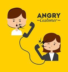 Angry customer vector