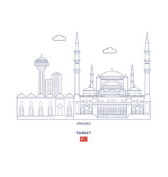 Ankara city skyline vector