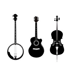 Banjo Acoustic Guitar and Banjo vector image vector image