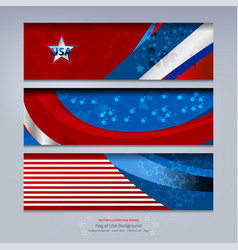 Banner of american vector