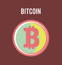 bitcoin physical bit coin digital currency vector image