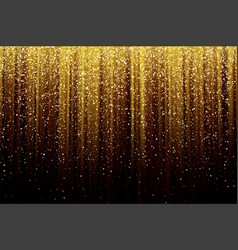 Black background with falling golden sparkles vector