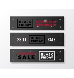 Black Friday Swiss Style Minimal Banners Set vector image