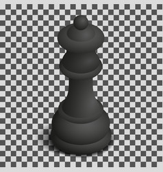 black queen chess piece in isometric vector image