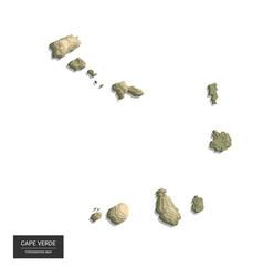 cape verde map - 3d digital high-altitude vector image