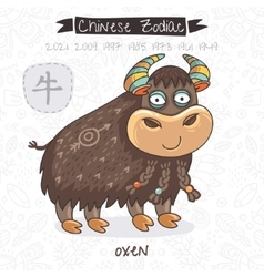 Chinese Zodiac Sign Oxen vector image