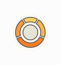 Circle diagram colorful icon vector