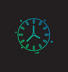 clock time seconds icon design vector image