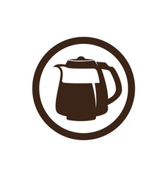 coffee cup logo template icon design vector image