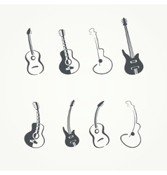 Collection of guitars vector