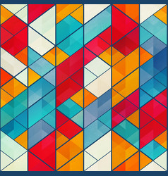 colored mosaic pattern vector image