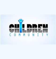 Creative children community logo design for brand vector