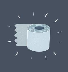 Crop flat toilet tissue vector