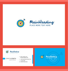 dart logo design with tagline front and back vector image