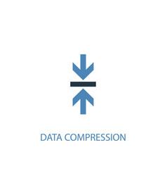 data compression concept 2 colored icon simple vector image