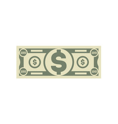 dollar banknote isolated icon in cartoon style vector image