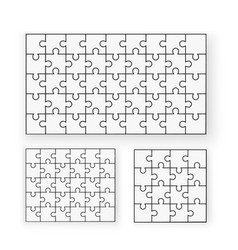 flat puzzle a lot vector image