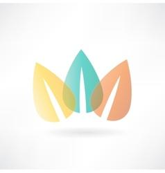 foliage icon vector image