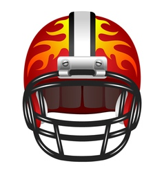 Football helmet with fire vector