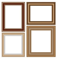 Frames isolated on white vector