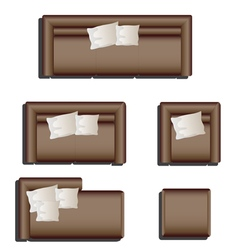 Furniture top view set 28 vector