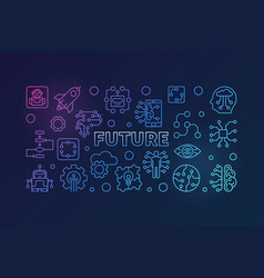 future colorful modern in thin vector image