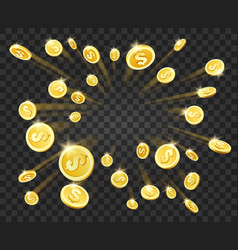 Gold money explosion vector