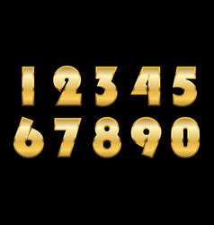 gold numbers isolated vector image
