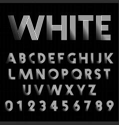 Line alphabet font template vector